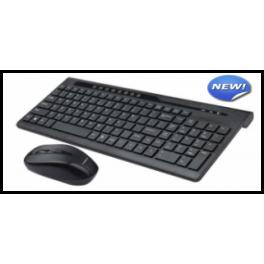 Tastiera Multimediale Mouse Wireless 2 4GHZ
