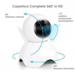 Telecamera TC-2212 IP Wifi PTZ, 2 MPX, visione notturna