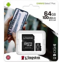 SDCS2 64GB microSDHC SDXC UHS-I Calsse 10 Kingston